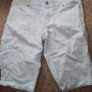New York and company white and blue denim shorts